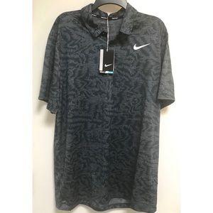 Nike Golf DriFit Blue-Gray Short Sleeve Polo Shirt